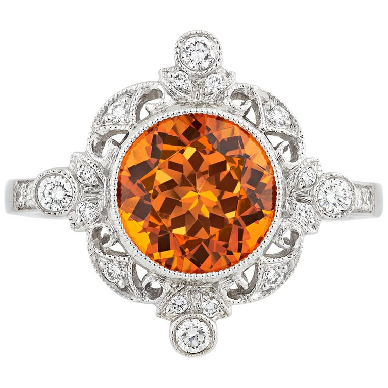 Tiffany And Co Spessartite Garnet Ring 3 25 Carat At 1stdibs