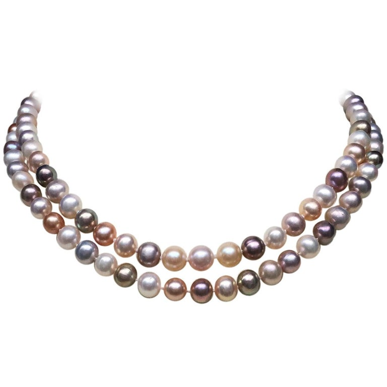 Marina J Two Multi-Color Pearl Necklaces