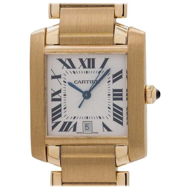 Cartier Yellow Gold Tank Francaise Automatic Wristwatch, circa 2005