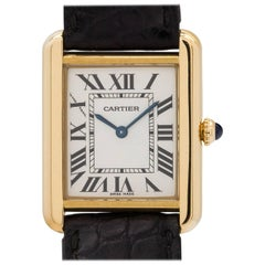Cartier Ladies Yellow Gold Tank Solo Quartz Wristwatch circa 2010, Ref 2743