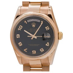 Rolex Pink Gold Oyster President Day Date Wristwatch Ref 118235, circa 2002