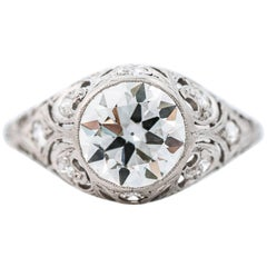 GIA Certified 2.85 Carat Diamond Platinum Engagement Ring