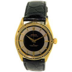 Rolex Yellow Gold Oyster Perpetual Fluted Bezel Wristwatch