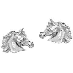 Marisa Perry Arabian Horse Cufflinks in Sterling Silver