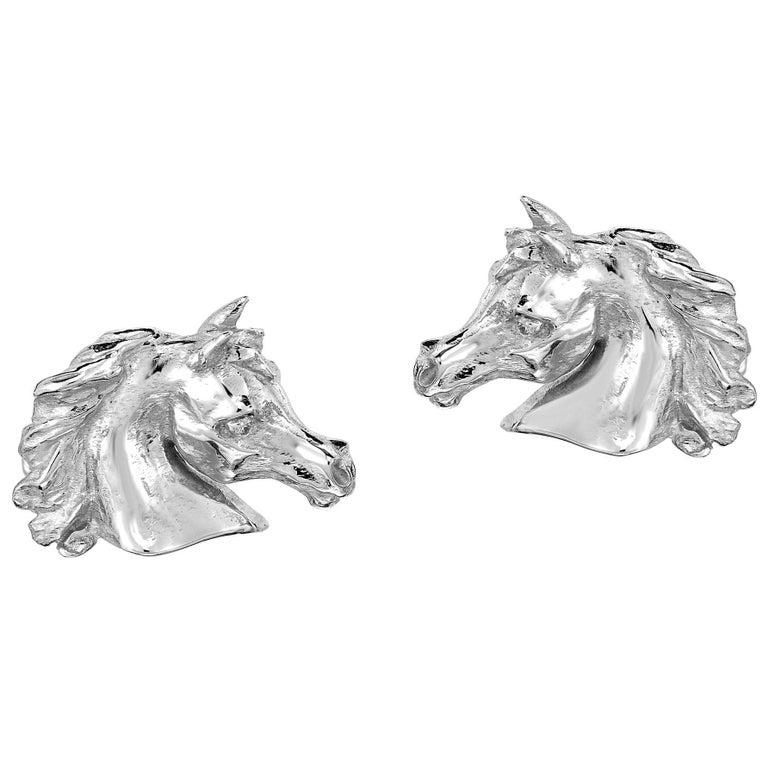 Marisa Perry Arabian Horse Cufflinks in Sterling Silver 1
