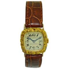 Patek Philippe Yellow Gold Miner Struck It Rich Cushion Shape Manual Wristwatch