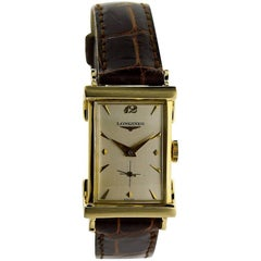 Longines Yellow Gold Art Deco Manual Watch, circa 1940s