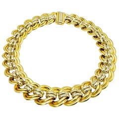 Large Gold Chain Link Choker Necklace