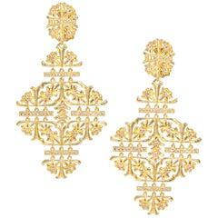 LALAoUNIS Aurelia Chandelier Earrings in 18 Karat Gold with Diamonds