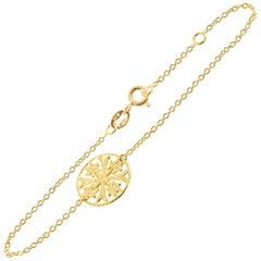 LALAoUNIS Aurelia Flower Bracelet in 18 Karat Gold