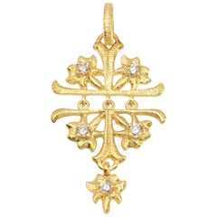 LALAoUNIS Aurelia Articulated Pendant in 18 Karat Gold with Diamonds