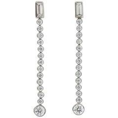 Tiffany & Co. 'Jazz' Collection: 1.68 Carat Diamond Drop Earrings, circa 2003