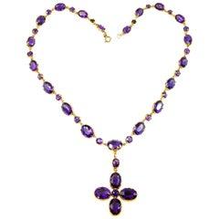Antique Amethyst Necklace