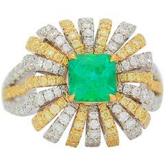 Frederic Sage 1.03 Carat Emerald Diamond Ring