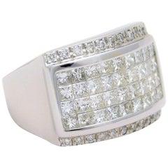 Square Diamond White Gold Ring