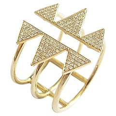 "Contemporary Diamond Gold ""Valley"" Ring"