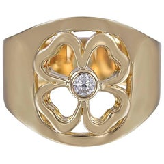 Hermes Gold and Diamond Ring
