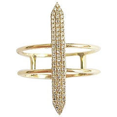 "Contemporary Diamond Gold ""Path"" Ring"