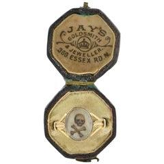 Stuart Skull Bones Rare Pre Georgian Memento Mori Ring