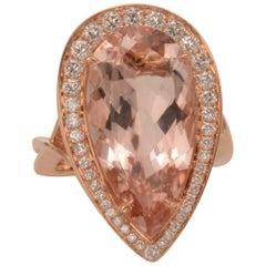 Frederic Sage 9.99 Carat Morganite Diamond Ring