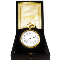 Howard Gold Plate Series 9 Rare Antique Pocket Watch, 1915