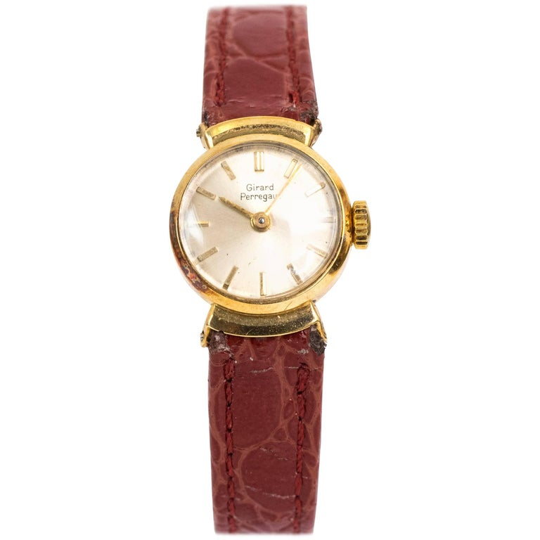 Girard Perregaux Ladies Yellow Gold Wristwatch, 1950s For Sale