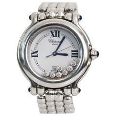 Chopard Stainless Steel Happy Sport Quartz Mystery Wristwatch, 2000s