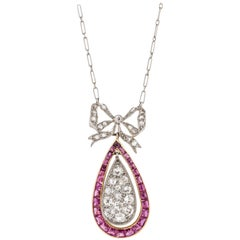 Platinum 18 Karat Belle Epoque Necklace