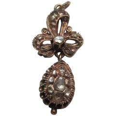Georgian Rose Cut Diamond Gold Pendant