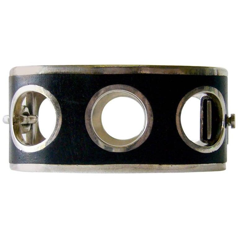 Jose Maria Puig Doria Sterling Silver Spanish Modernist Bracelet For Sale