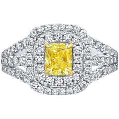 Frederic Sage 1.19 Carat Yellow Diamond Ring