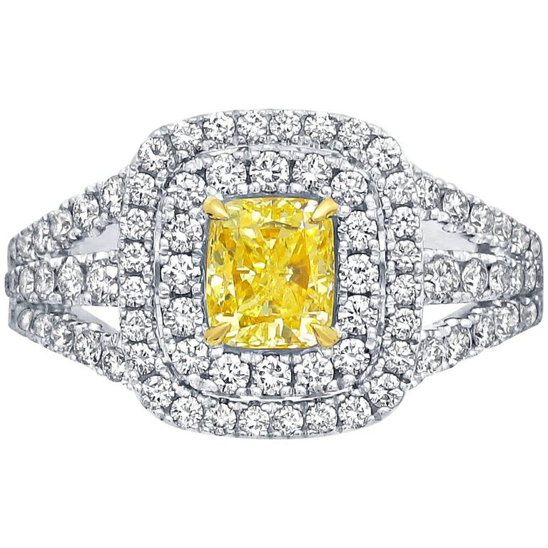 Frederic Sage 1.19 Carat Yellow Diamond Ring