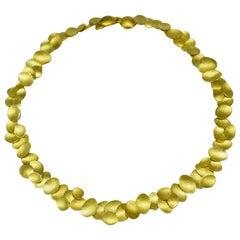 Kayo Saito Gold Petal Choker Necklace