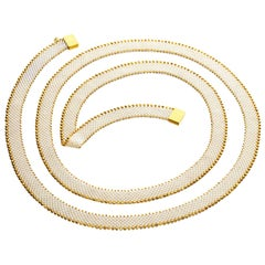 International Design Winning Pearl Gold Convertible Necklace