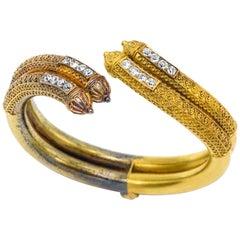 Victorian Etruscan Revival Yellow Gold Bracelet