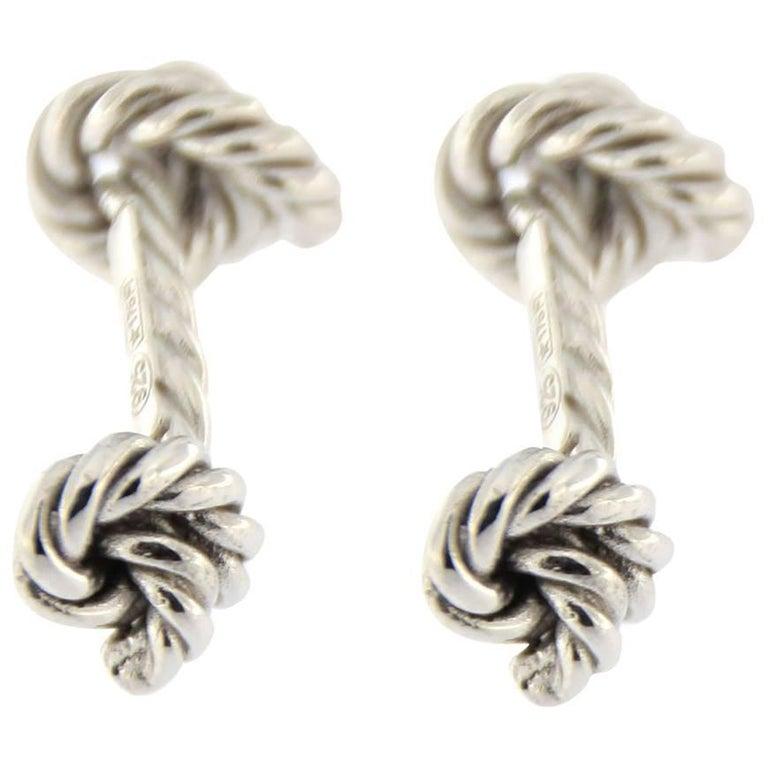 Jona Rope Sterling Silver Cufflinks 1