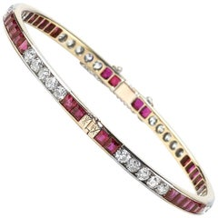Ruby and Diamond Bangle