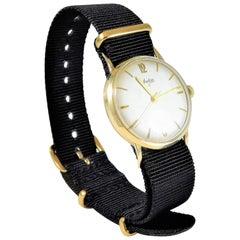 Arctos S Yellow Gold Vintage German Military Manual Wristwatch