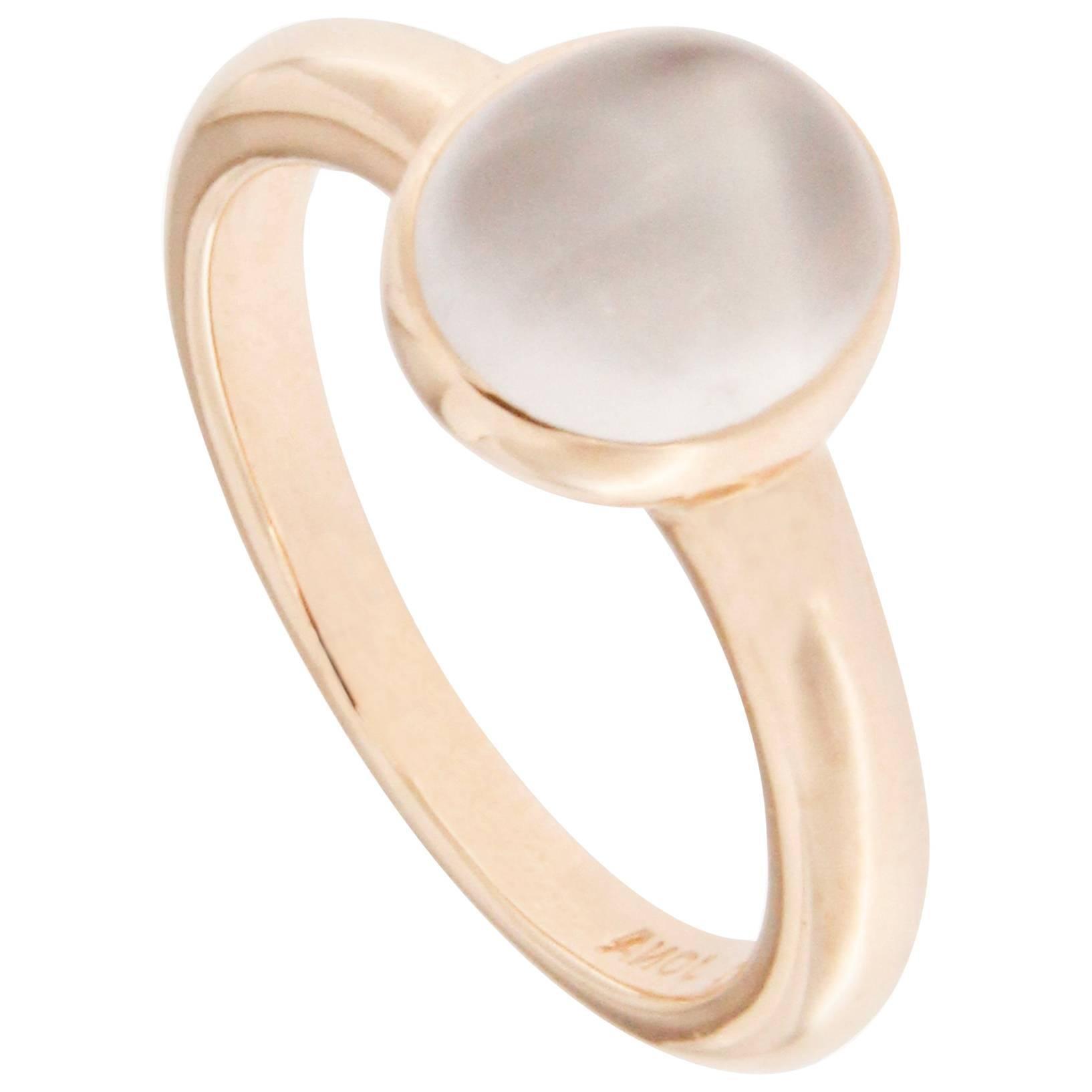jona moonstone pink gold ring