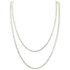 Diamond Line Necklace 20 Carat Total Weight