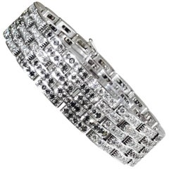 Cartier Black and White Diamond Maillon Panthere Bracelet