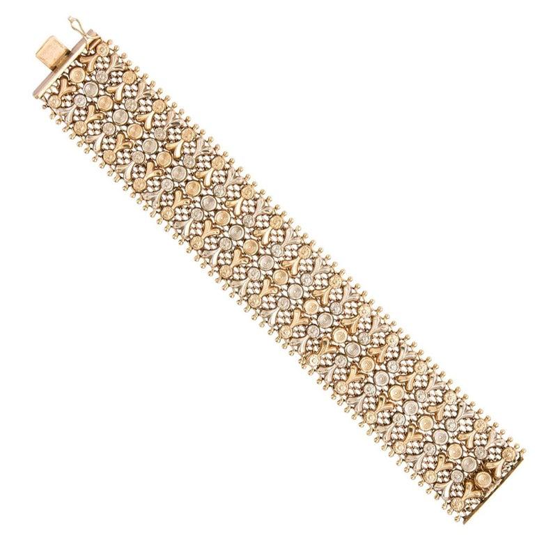 18 Karat White and Yellow Gold Bracelet