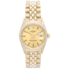 Rolex Yellow Gold Date Automatic Wristwatch Ref 15037