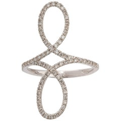 Fashion Ring White Gold with 75 Diamonds