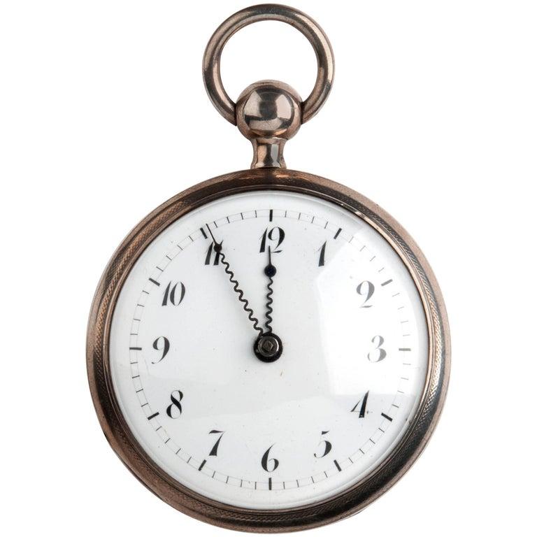 Jubilé Chappuis Paris Silver Quarter Repeater Pocket Watch, circa 1820