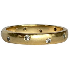 Diamond Ring Studded Band Brilliant Cut 18 Carat Gold