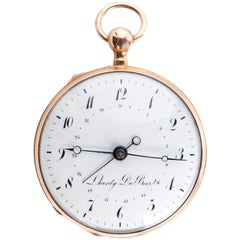 L'Hardy du Bois Yellow Gold Quarter Repeater and Calendar Pocket Watch, 1820