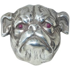 Antique Sterling Silver Bulldog