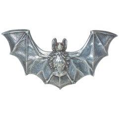 Art Nouveau Sterling Silver Bat Brooch