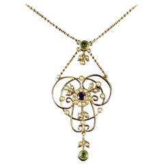 Antique Victorian Suffragette Pendant Necklace, circa 1900